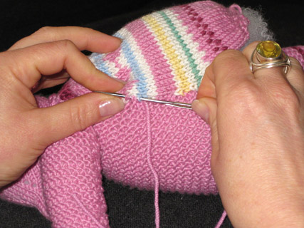 Knitting Milo