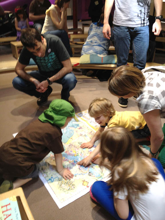 Here is a super-size map of Bottlenose Bay in action at one of my events. These lovely people gave me their permission to take this picture and we all had a great time!
