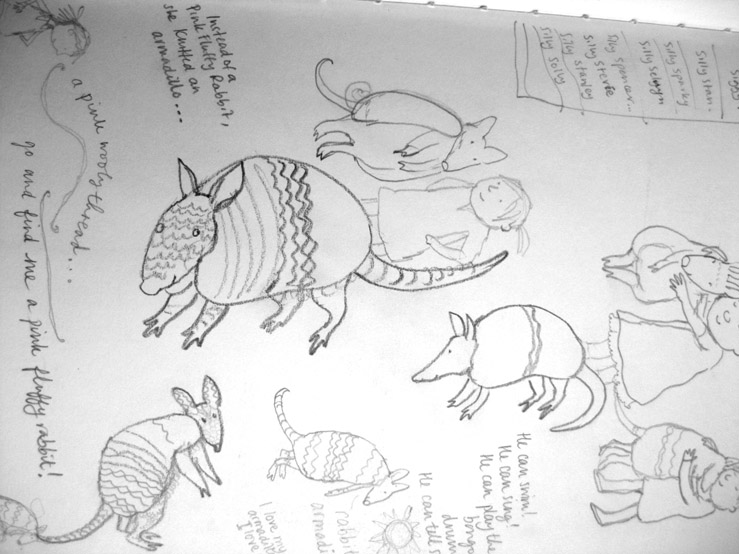 Milo Armadillo sketches