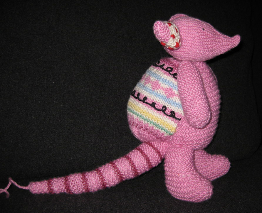 Milo Armadillo knitted doll