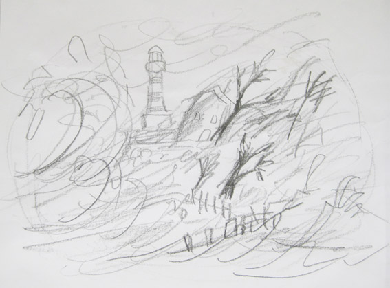 Sketches and roughs for Harry and the jaggedy daggers