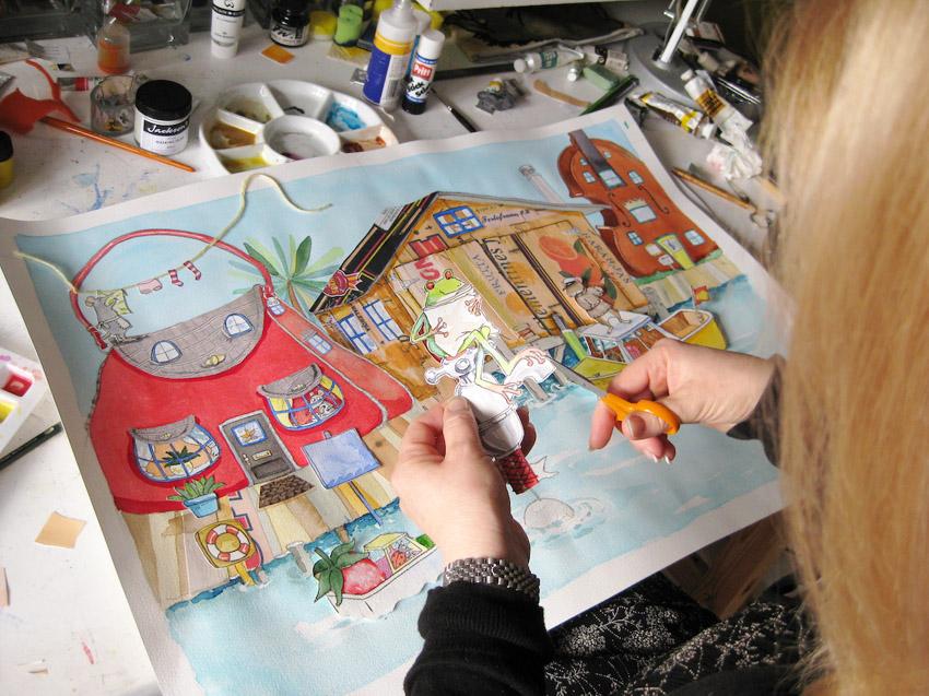 Jan Fearnley art in process
